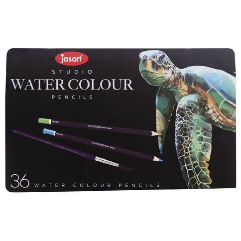 Jasart Watercolour Pencils in Tin 36 Pack
