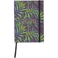 Modena 2020 Diary Week To View Case Bound Green Palms A5