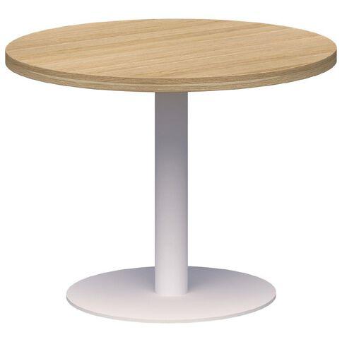 Classic Coffee Table White & Classic Oak 600 Diameter