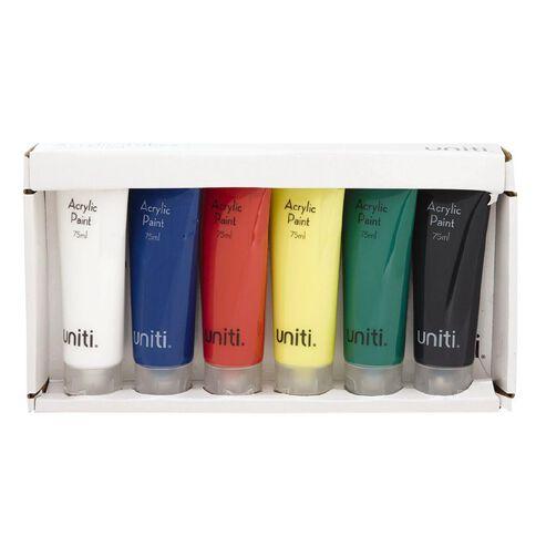 Uniti Acrylic Tubes 75ml 6 Pack