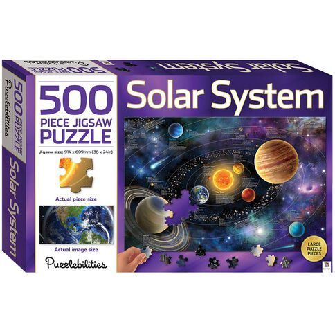 Hinkler Jigsaw Puzzle 500 Piece Solar System Multi-Coloured