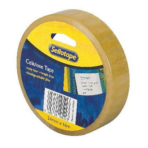 Sellotape Cellulose Tape 24mm x 66m Clear