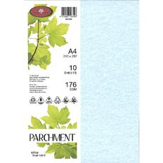 Direct Paper Parchment Card 176gsm 10 Pack Sirius Blue A4