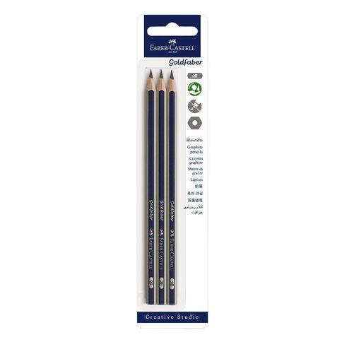 Faber-Castell Goldfaber 2B Pencils 3 Pack