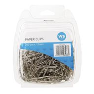 WS Paper Clips Triangular 31mm 200 Pack Silver