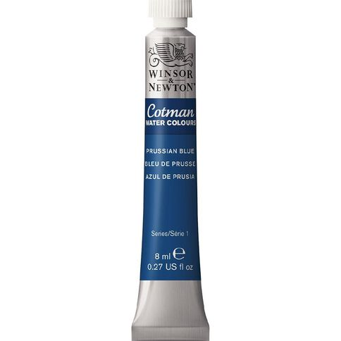 Winsor & Newton Cotman Watercolour Paint 8ml Prussian Blue Blue