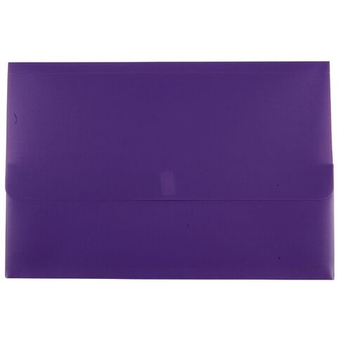 Marbig Polypick Wallet Hook And Loop Purple A4