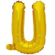 Artwrap Foil Balloon U Gold 35cm