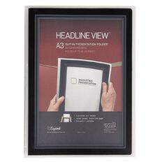 Squirrel Headline View Folder Black A3