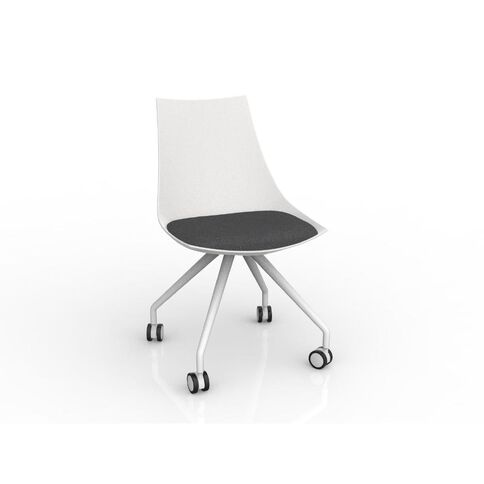 Luna White Charcoal Grey Chair Charcoal