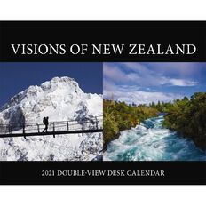 BrownTrout 2021 Desk Easel Calendar Visions of New Zealand