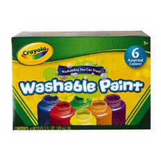 Crayola Washable Paints Colours 6 Pack Assorted