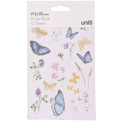 Uniti Wild Bloom Sticker Book