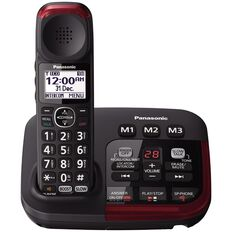 Panasonic KX-TGM420AZB Single Cordless Handset Black Black