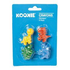 Kookie Dinosaur Crayons 4 Pack