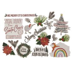 Uniti Tis The Season Die Cut Shapes Vellum