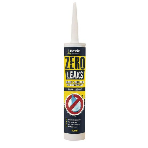 Bostik Zero Leaks Roof & Gutter Silicone Sealant Translucent 300ml