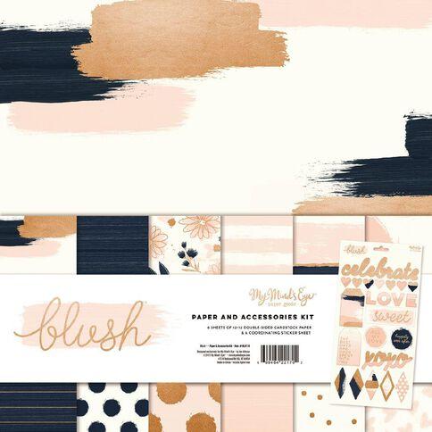 My Minds Eye Blush Paper & Accessories Kit