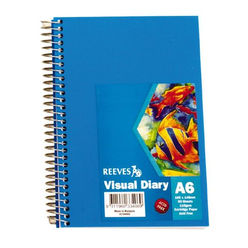 Reeves Visual Diary Blue A6