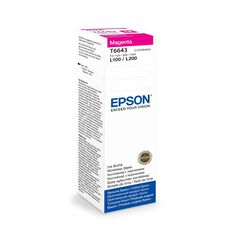 Epson Ink T6643 Magenta 70ml Bottle (7500 Pages)