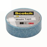 Scotch Washi Craft Tape 15mm x 10m Cracked Aqua