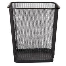 WS Mesh Rubbish Bin Black