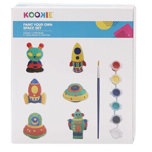 Kookie Paint Your Own Plaster Space Set Colour Box