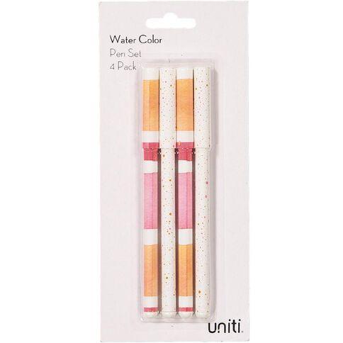 Uniti Unit Water Colour Pen Set 4 Pack