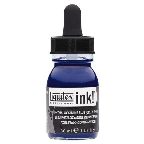 Liquitex Ink 30ml Phthalo Green (Blue Shade)