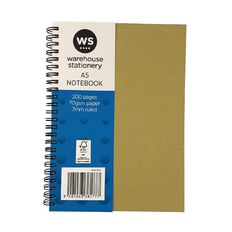 WS Notebook Wiro Kraft 200 Pages A5