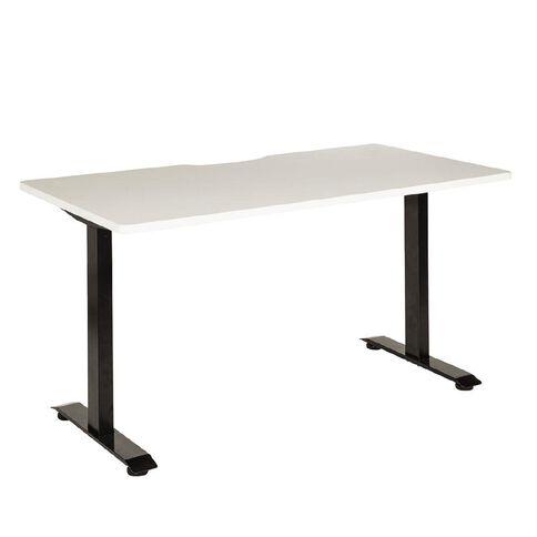 Jasper J Emerge Straight Scallop Desk 1800 BlkWht