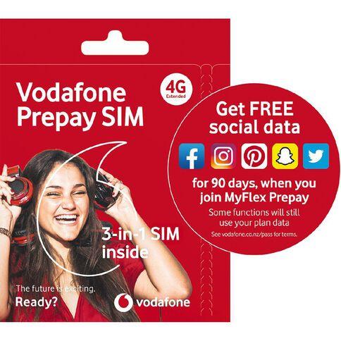 Vodafone 4G Prepay Triple SIM 2019