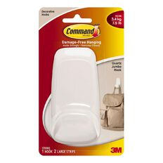 Command Quartz Jumbo Hook White