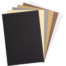 Uniti Value Cardstock Textured 216gsm 30 Sheets Neutral A4