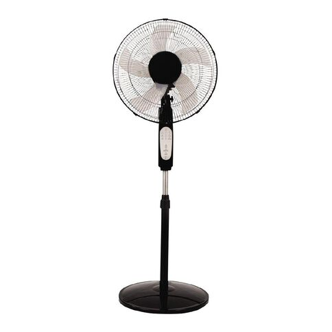 Living & Co Pedestal Fan with Timer and Remote 40cm Black