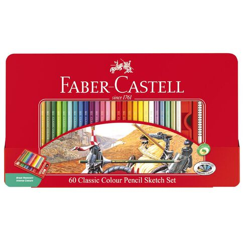 Faber-Castell Classic 60 Colour Pencils Sketch Set