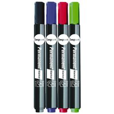 Impact Permanent Markers Bullet 4 Pack Multi-Coloured