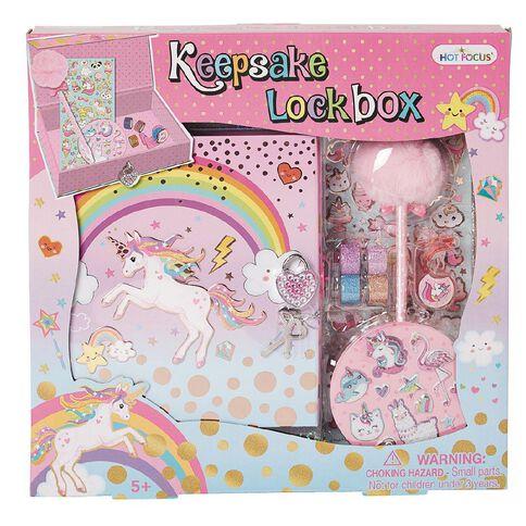 Hot Focus Keepsake Lockbox Unicorns