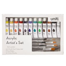 Uniti Acrylic Paint Palette and Brush Box Set