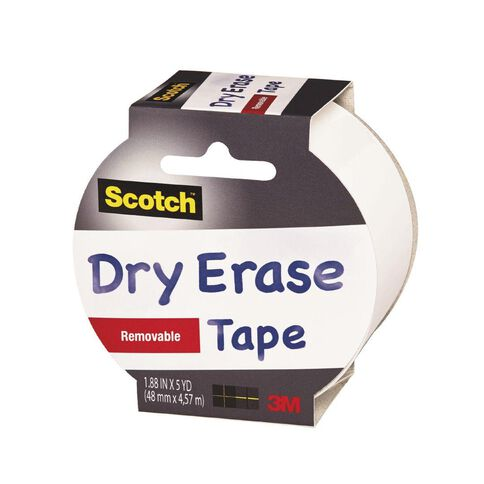 Scotch Craft Tape 48mm x 4.5m Dry Erase White