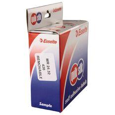 Quik Stik Labels Mr2432 24mm x 32mm 420 Pack White