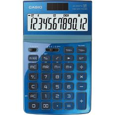 Casio Stylish Desktop Calculator Jw200Twbu Blue