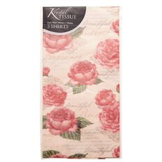 Tissue Paper Feminine Pink Roses