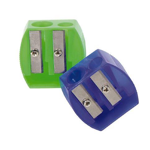 Sharpener Plastic Twin Mixed Assortment 2 Pack