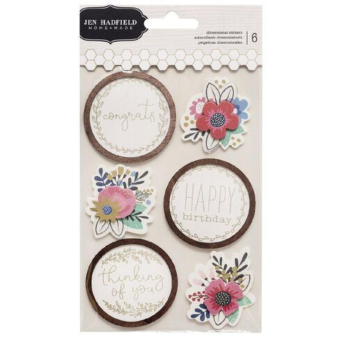Jen Hadfield My Bright Life Stickers Gold 6 Piece