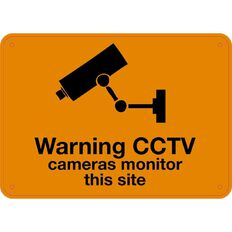 Impact Warning CCTV Sign Small 240mm x 340mm