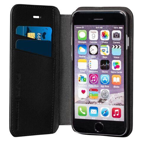 Nvs Premium Leather Wallet Folio Iphone 6 Plus/6S Plus Black Black