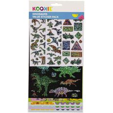Kookie Sticker Value Pack 8 Sheet Dinosaurs