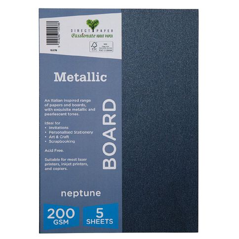 Direct Paper Metallic 200gsm 5 Pack Neptune A4
