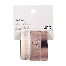 Uniti Adore Washi Tape Pink 3 Pack